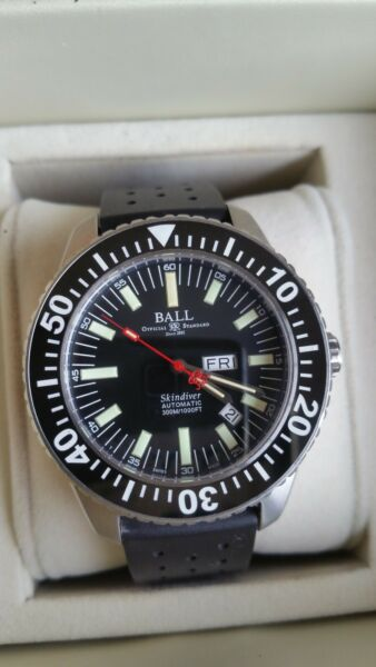 BALL Engineer Master 2 Skindiver DM2108A Auto Black day date model Reduced price