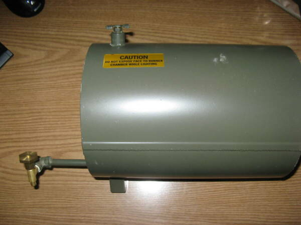Military M67 Liquid Fired Immersion Heater Fuel Tank $40.00