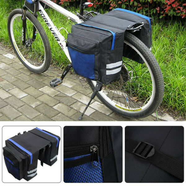 Bicycle Carrier Rear Rack Bike Trunk Bag Luggage Pannier Back Seat Double Side $17.85