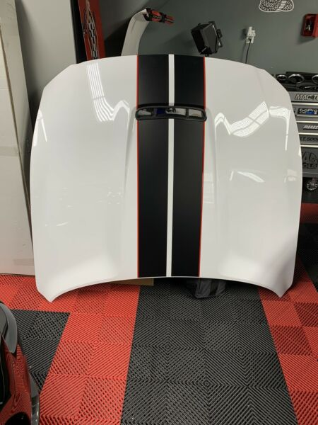 2015 2020 OEM GT350 R Hood WITH stripes And Carbon Hood Vent Full PPF color YZ $999.00