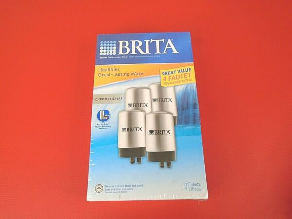 Brita Faucet Water Filters Chrome Silver 4 Pack #FR 200