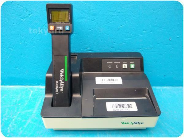 WELCH ALLYN MICRO TYMP 2 TYMPANOMETER W 71170 BATTERY CHARGER @ 267482