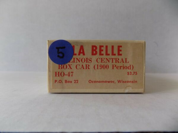 HO SCALE BOX CAR 1900 CENTRY FOR ILLINOIS CENTRAL WOOD KIT BY LA BELLE HO 47 NOS $19.99