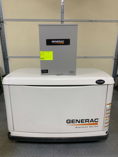 Generac standby generator 11 KW with100 amp 240V Automatic Transfer Switch 2014 $2700.00