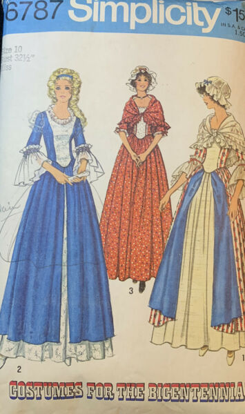 Vintage 1974 Simplicity Costumes For The Bicentennial #6787 Simplicity Size 10 $5.00