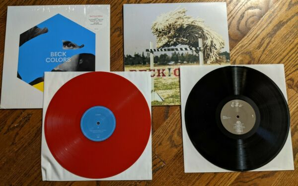 BECK Colors red vinyl amp; Odelay repress . BOTH UNPLAYED $47.88