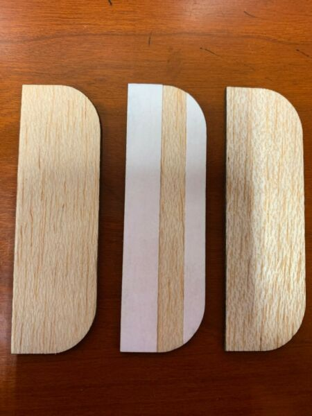 3.5 Inch Wooden Hinge Filler Plates with Adhesive back . 3 In a Pack