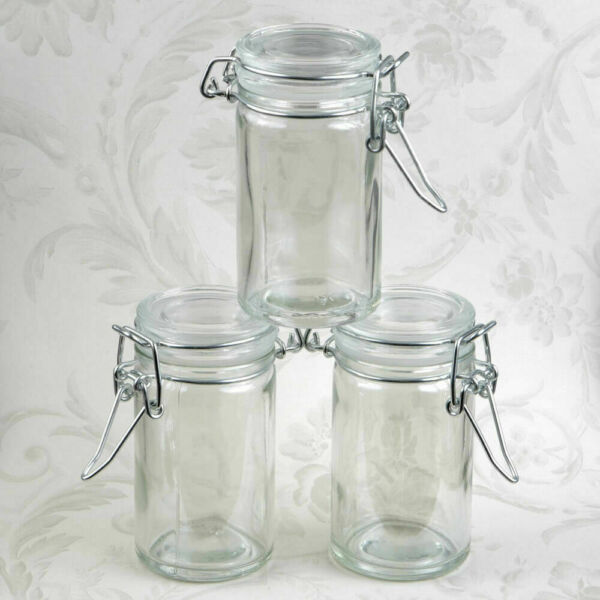 20 96 Perfectly Plain Apothecary Glass Candy Jar DIY Wedding Party Favors