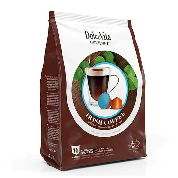 DOLCE Vita Gourmet coffee for DOLCE GUSTO Irish Coffee 16 capsules FREE Ship
