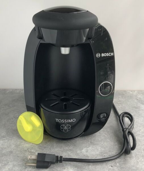 Bosch Tassimo Coffee Maker Machine Black With Cleaning disc TAS2002UC 8 01