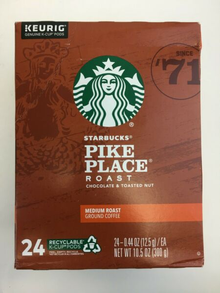 Starbucks Pike Place Roast K Cup for Keurig Coffee Brewers 24 Count