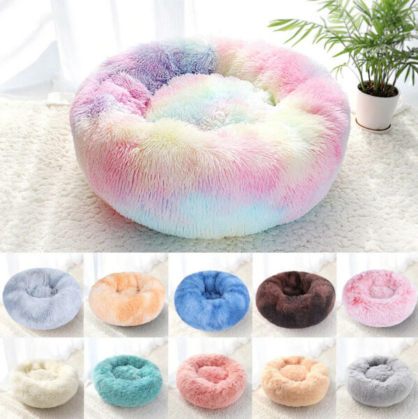Orthopedic Soft Calming Pet Bed Anti Anxiety for Small Medium Large Dogs Cats $12.59