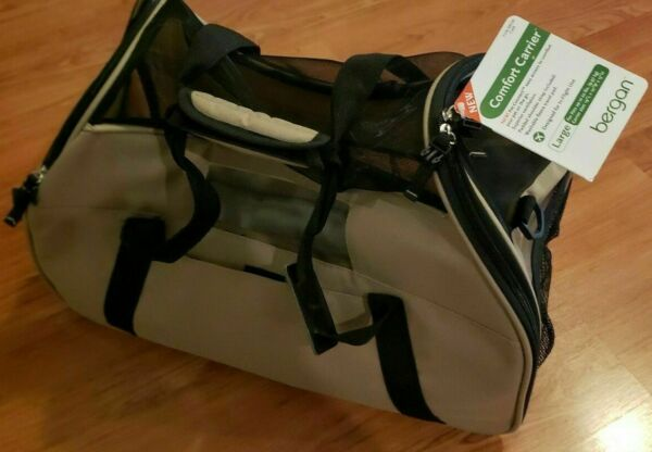 Bergan LARGE Travel In Flight Use Comfort Carrier for Pets up to 22 lbs Cafe NEW $42.99