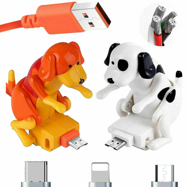1.2M Humping Funny Dog Fast Charger USB Cable For Iphone Type C Android Micro $11.99