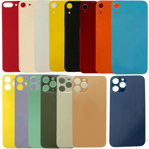 Replacement Rear Back Glass Battery Cover Big Hole For iPhone 8 X 11 12 Pro Max $6.99