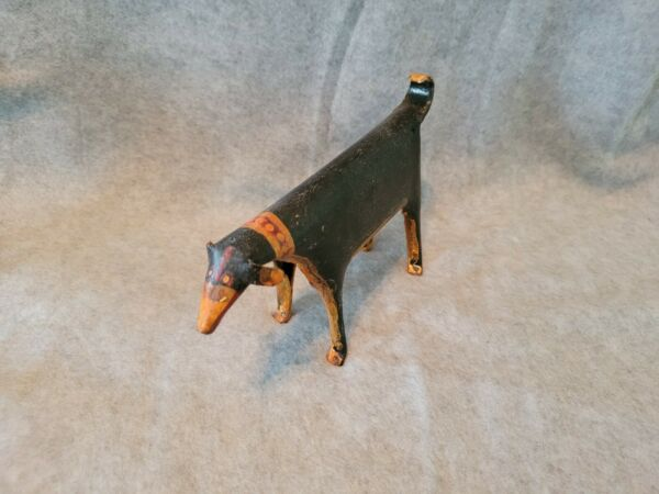 Vintage Small Metal Dog Sculpture Made in India Unique Piece Fast Shipping $19.99