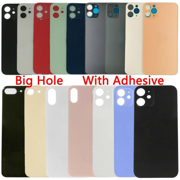 Big Hole Rear Back Glass Cover Replacement For iPhone 8 X XS XR 11 12 Pro Max SE $8.99