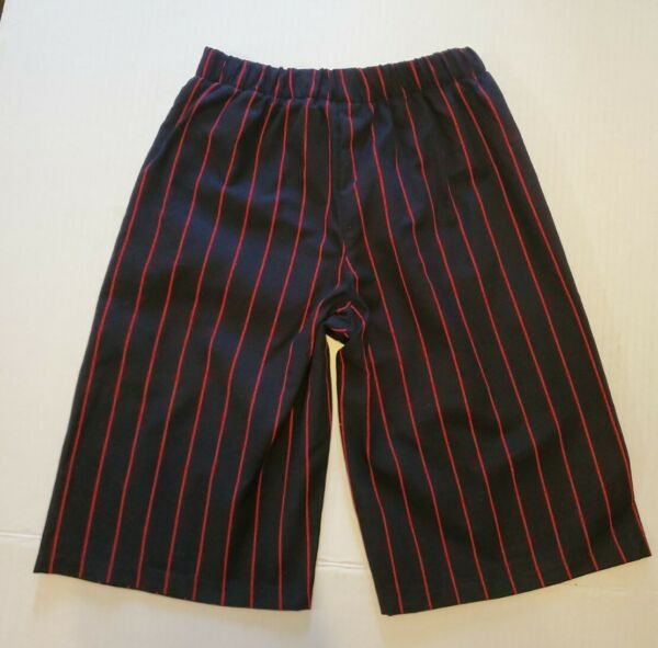 Kids Pirate Halloween Costume Black amp; Red Striped Pants Size 6 $9.50