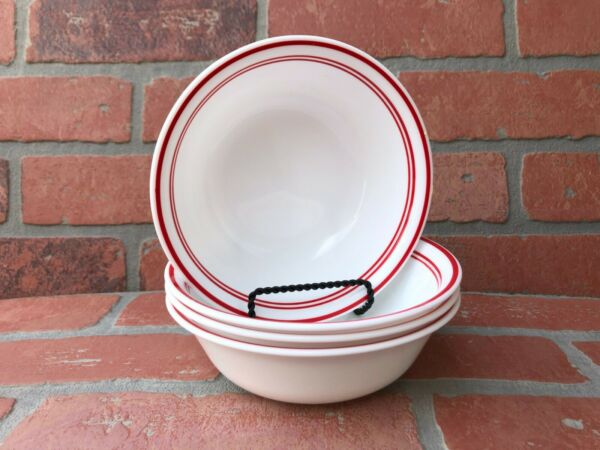 Corelle Classic Cafe Red Dishes 18 Ounce Soup Cereal Or Salad Bowls Set Of 4 $25.90