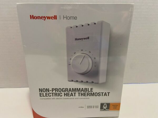 Honeywell Home 4 Wire Non Programmable Elec Heat Thermostat CT410B. New Sealed $6.50