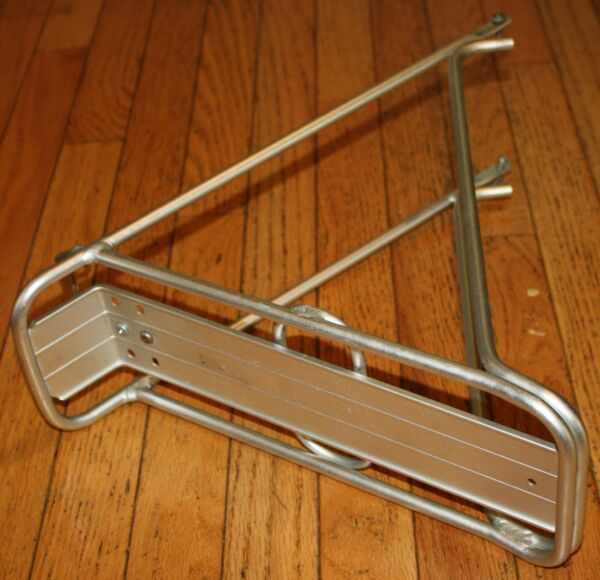 ADVENT Bicycle Rear Cargo Touring Pannier RACK Hollow Aluminum Tubing VINTAGE $9.49