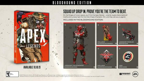 Apex Legends Bloodhound Edition PS4 PlayStation 4 CODES ONLY $9.99