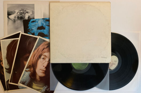 The Beatles White Album 1968 US Apple Numbered Cover All Inserts EX