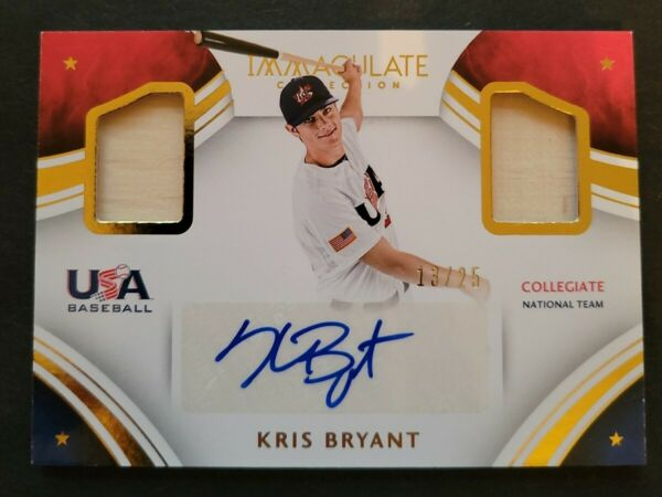 2016 Immaculate Kris Bryant USA Collegiate Collection Auto 25