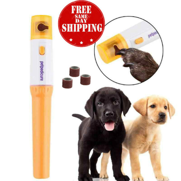 Pet Electric Dog Cat Puppy Claw Toe Nail Pedicure Grinder Clipper Trimmer Tool $5.49