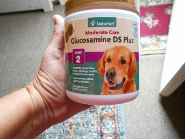 NaturVet Moderate Care Glucosamine DS Plus Level 2 Soft Joint 120 chews Exp 2024 $18.00