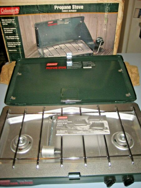 Vintage NOS NEVER USED MIB Coleman 3 Burner Propane Camping Stove 5433 700