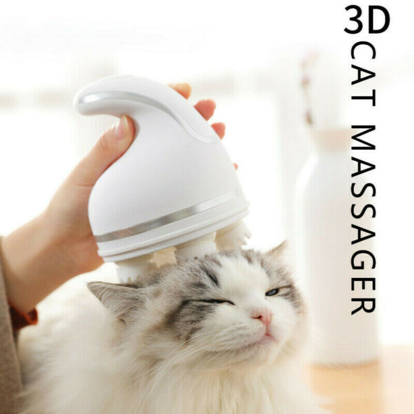 Electric Automatic Massager Pet Cat Dog Scratching Device Small Paw Touch Hair C GBP 19.34