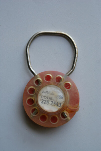 Old Vintage Advertising Key Chain Ches amp; Pat#x27;s Pine Tree Prairie du Chien Wis WI