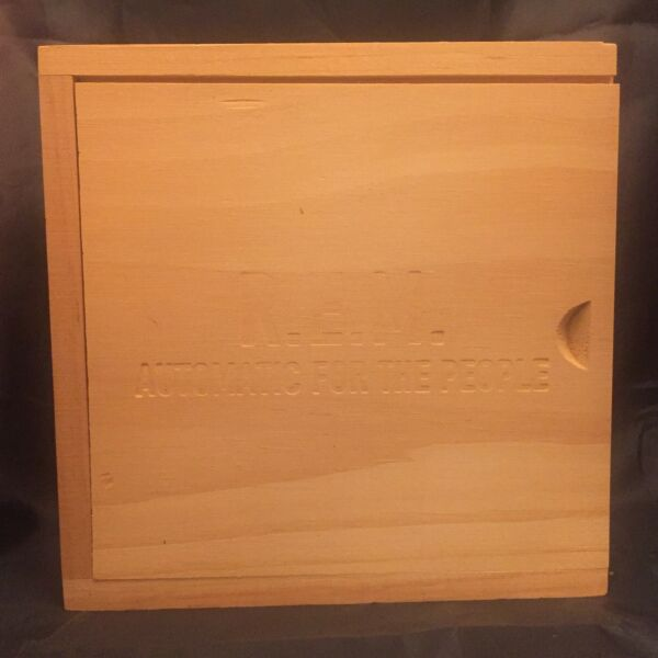 REM Automatic For People CD in Wooden Box Limited Edition R.E.M. Beautiful Shape $19.99
