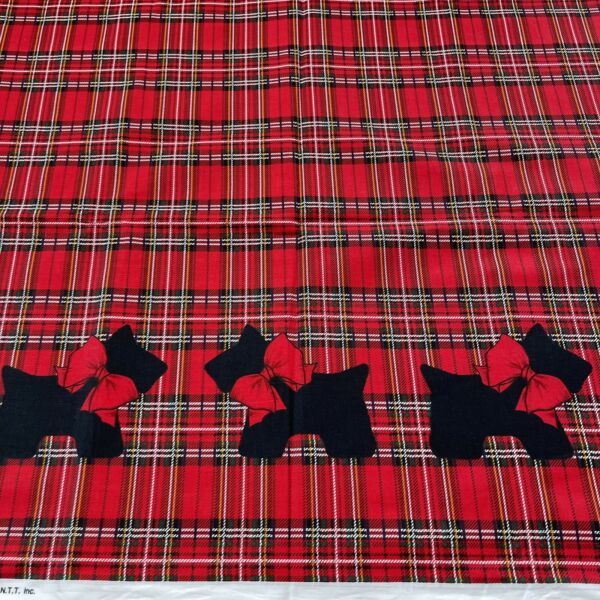 Scotty Dog Plaid Single Border by Patty Reed Fabric Traditions By The Half Yard $8.00