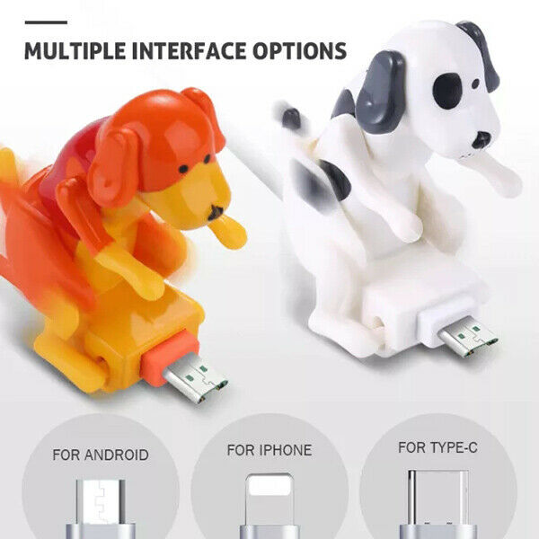 Funny Humping Dog Fast Charger Cable Type C Dog Charging Cable Suitable Portable $10.97