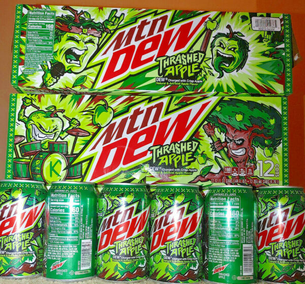 It#x27;s time to THRASH with NEW Mountain Dew Thrashed Apple single can Free Ship