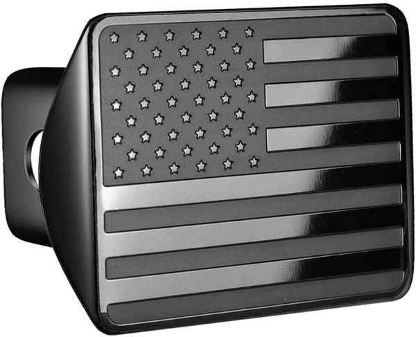 American Flag Metal Trailer Hitch Cover for 2 inch Receivers $26.07