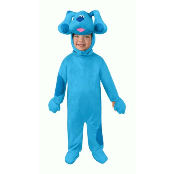 Blue#x27;s Clues amp; You Blue Toddler Halloween Costume Jumpsuit amp; Headpiece 2T Dog $29.99