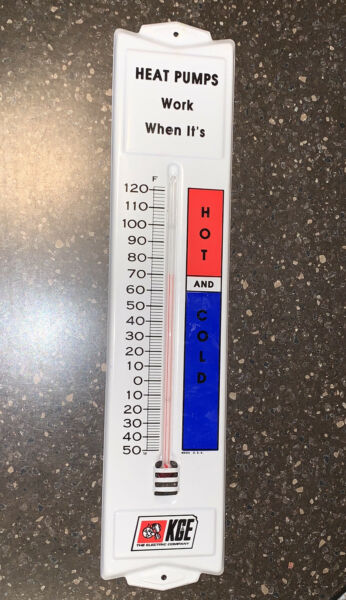 Kansas Gas amp; Electric Power Co KGE Vtg HEAT PUMPS WORK HOT COLD Thermometer LOOK $49.99