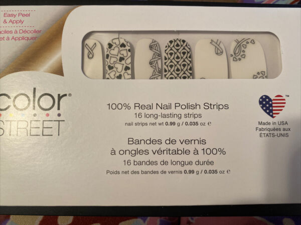 Color Street FOR THE CAUSE 100% Nail Polish Strips Overlay Strip FREE TWOSIES $8.00