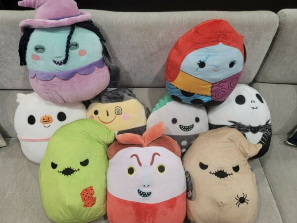 Nightmare Before Christmas LARGE Squishmallow *FULL SET* RARE 12quot; $320.00