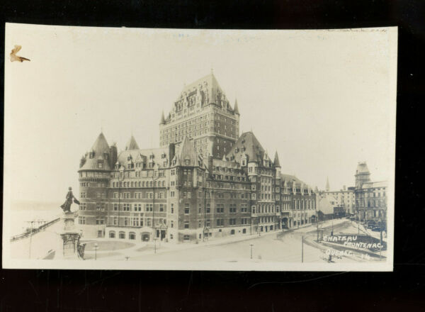 Canada Quebec REAL PHOTO Chateau Frontenac