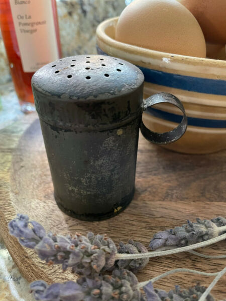 Early Antique Hand Made Tin Shaker $29.99