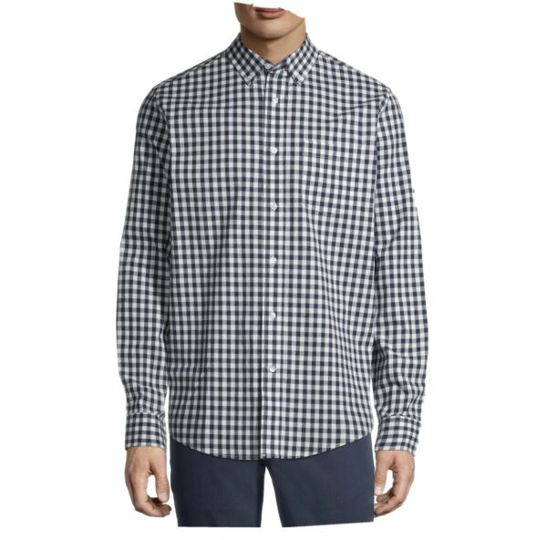George Men#x27;s Long Sleeve Button Down Poplin Shirt Size 2XL 50 52 New With Tag