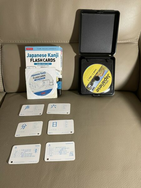 Instant immersion Japanese Language cds Course 17 CDs With Kanji Flash cards $15.00