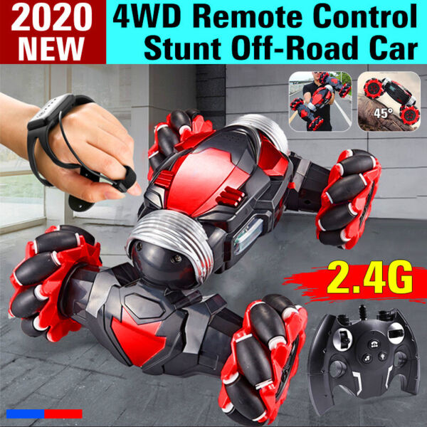 Stunt Car 4WD Remote Control Gesture Sensor Toy Cars Double Sided Rotating Off $35.99