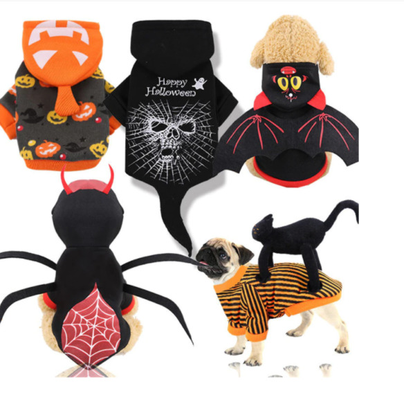 Dog Clothes Christmas Halloween Costumes Dogs Cat Hoodies Chihuahua Winter Dog $12.90
