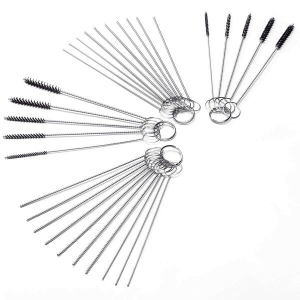 Carb Carburetor Cleaner Cleaning Brushes Kit Small Wire Brush 20 Needles ... $10.83