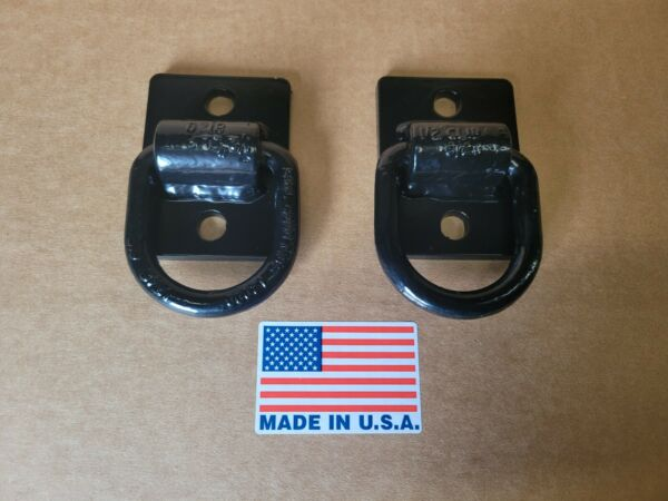 Bolt On D Ring Grab Hooks For Loader Tractor Bucket Heavy Duty Steel Pack Of 2 $40.00